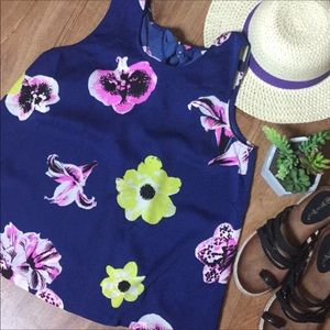 J. Crew floral tank with tie in the back sz 2 NWT
